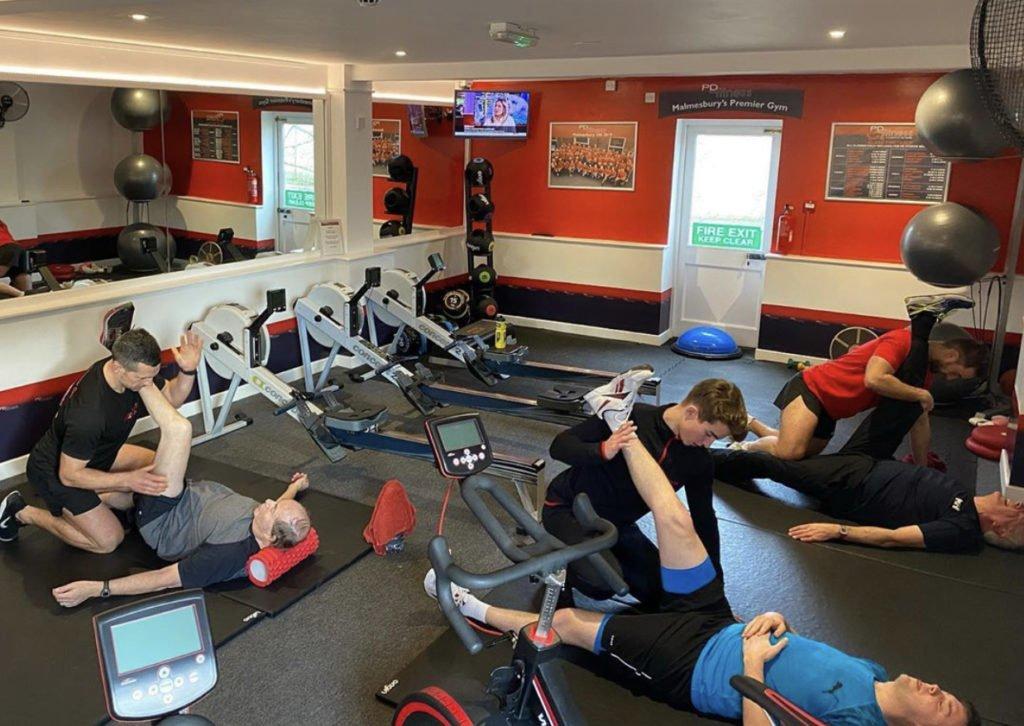 Personal training stretch
